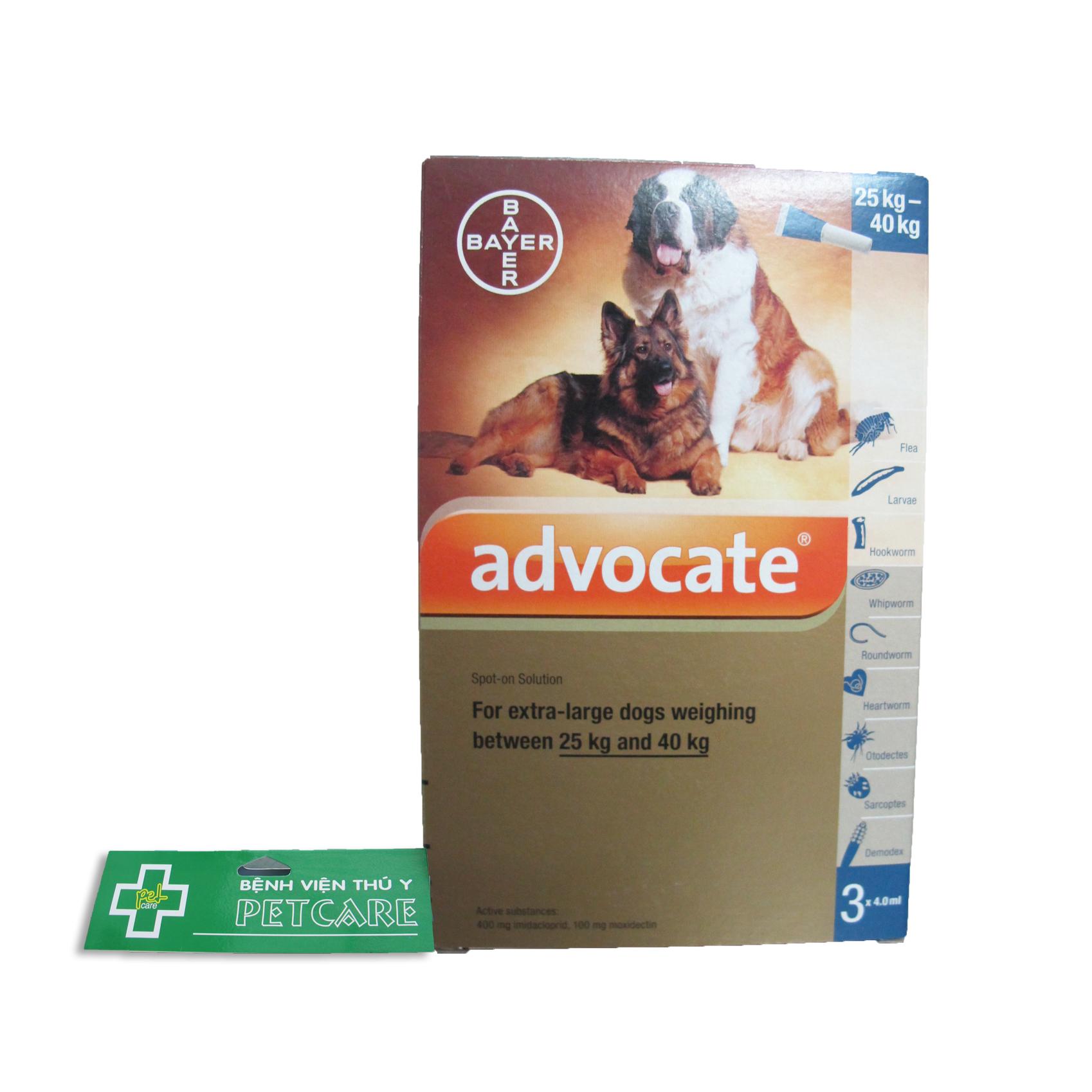 Thuốc nhỏ gáy Advocate cho chó 25-40 kg